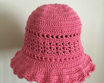 Baby crocheted hat 12/18 mo