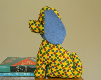 Vintage 1960s 1970s Handmade Plush Dog