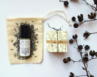 Gift Set // Face Serum And Perfume Sample Pack // Organic // For Her // Beauty Set