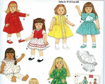 AMERICAN GIRL DOLL Sewing Pattern by Simplicity No. 4347 Uncut