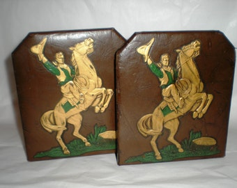 Cowboy Book Ends - Set - Bucking Broncos Bookends