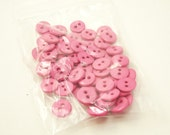 """Rose Pink 7/16"""" (11 mm) buttons, Qty 70"""
