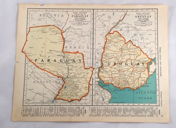 Map Of Uruguay Paraguay Antique Argentina Chili Map - Argentina map to print