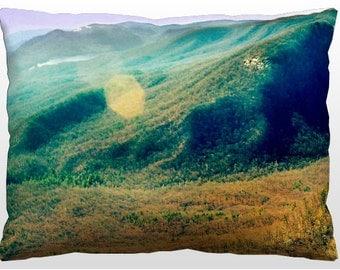 Decorative Landscape Pillow - Blue Ridge Mountains