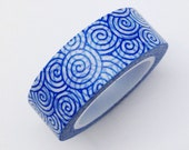 Blue Retro Waves Washi Tape