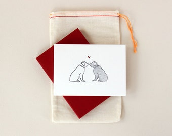 Puppy Love Golden Retriever Notecard Set
