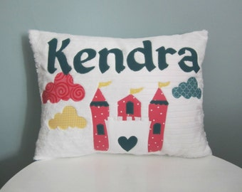 Castle in the Clouds Personalized PIllow