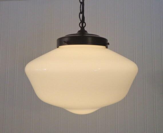 Milk Glass Pendant Light Kitchen