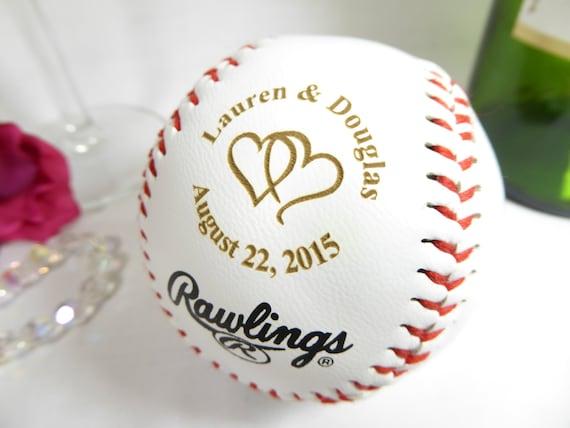 Baseball Wedding Gifts: Custom Engraved Baseball Boyfriend Gift Ideas Bride Groom