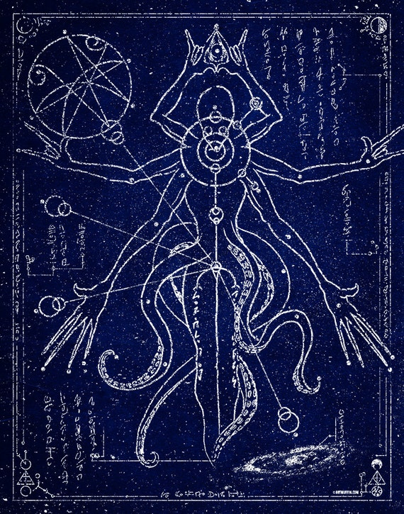 Alien Constellation 7-Celestial Blue