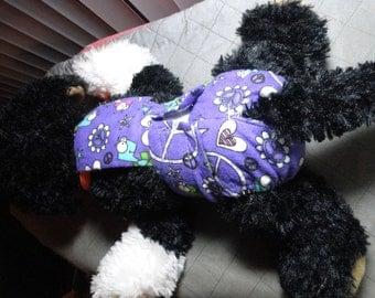 "Tiny little female dog diaper with strap that connects to the collar 7-8"" waist"