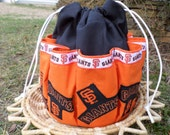 Cotton Canvas Tote San Francisco Giants Fabric Design Bingo Bag Holds 18 Daubers at once
