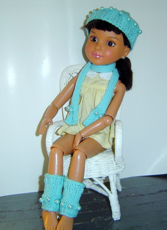 Knit And Crochet Patterns For 18 Inch Dolls : 0059 BFC 18 Inch Knit and Crochet 3PC Beaded by CARUSSDESIGNZ