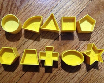 Vintage Tupperware TupperToys Shape-O Toy Number Block Replacement / Sold Individually