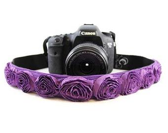 Purple Organza   Camera Strap