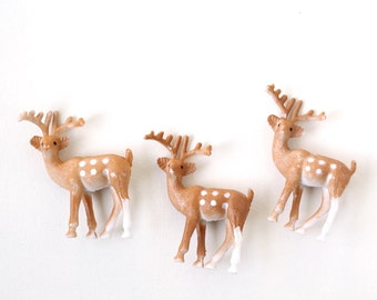 Little Deer Cupcake Toppers (12) Small Reindeer Cake Decorations