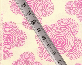 OOP Amy Butler Midwest Modern Floating Buds Ivory Cotton Quilting Fabric -- 1 yard