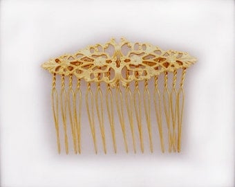 Medium Gold Marquise Comb , Gentle Gold Comb, Bridal Hair Accessories, Bridesmaid Hair Accessory, Perfect Gift, Birthday, Best Friend Gift