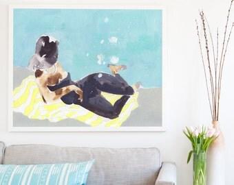 Sun Spot .  horizontal giclee art print . extra large artwork