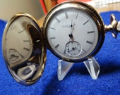 Pretty 1901 Elgin Ladies 6 Size 15 Jewels Hunting Case Pocket Watch