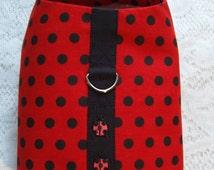 Cute Ladybug Red & Black Polka Dot Easy Velcro Pet Harness / Vest Coat Jacket - for Small DOG CAT Puppy  Kitten
