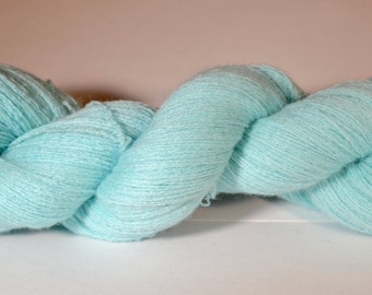 Light Blue Reclaimed Cashmere Yarn Skein 3
