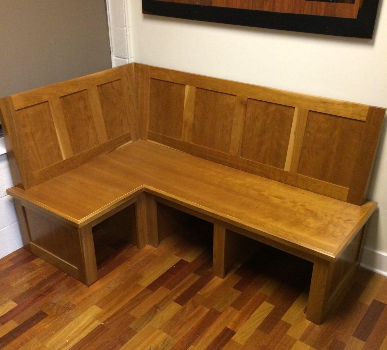Banquette Corner Bench: Cherry Banquette Corner Bench Seat By Prairiewoodworking