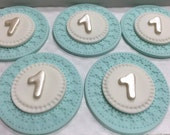Number Cupcake Toppers, Fondant Cupcake Toppers, Edible Cupcake Decorations,Birthday party cupcakes, 1st birthday party