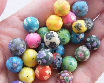 100 Polymer clay beads B159 - SALE 50% OFF