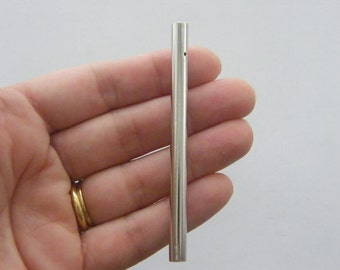 20 Wind chime tubes 80 x 6mm silver tone