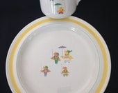 ARABIA of Finland Childs Cup and rimmed Plate