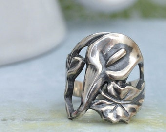 sterling silver CALLA LILY RING antiqued sterling silver calla lily flower ring