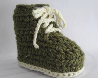 CROCHET PATTERN - Baby Combat Boots - Combats - Booties/Bootees - Birth to 3 months