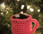 Hot Cocoa With Marshmallows Mug Christmas Tree Ornament Or Child's Play Food With Real Cocoa Aroma