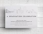 Print Your Own San Francisco Graduation Party Invitation
