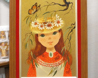 Vintage Hippie Style Painting by Lola Cabot