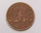 1982 French Polynesia 100 Franc Coin
