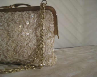 Vintage Sequined Party Purse