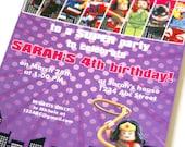 Girls LEGO Superhero Custom PRINTABLE Birthday Invitation