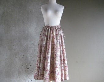 60s VINTAGE JH Collectibles floral print circle skirt small