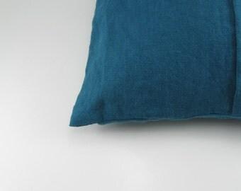 Handmade Decorative Linen Pillow Cover / Throw Pillow Cover / Cushion Case / Accent Pillow --- Dark Teal