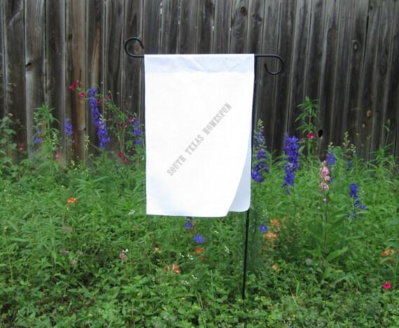 New White Cotton Double Garden Flag 18 X 12 By Southtexashomespun