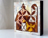 "Original ""Little"" Mixed Media Painting 5x5-Barn Series"