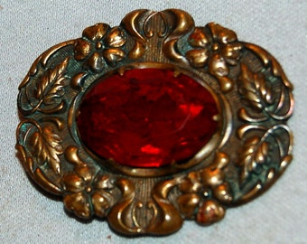 Vintage / Art Nouveau / Brooch / Antique / Large / Elegant / old jewellery jewelry