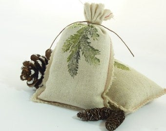 Set of 2 Organic Balsam Fir Sachets