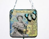 Vintage Style Collage OOAK Wall hanging