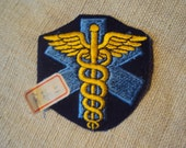 Vintage 70s Star of Life Medical Symbol Iron On Sew On Patch