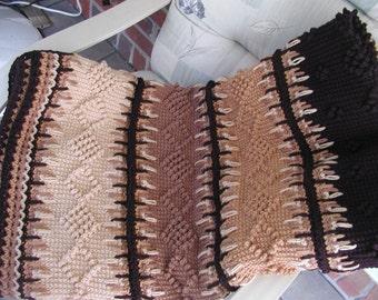 Crochet Tunisian Textured Blanket