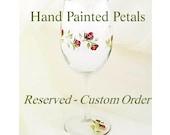 Custom Order for L:  Hand Painted Fleur de Lis Wine Glasses Black and Silver, Set of 4 - Custom Painted Glassware Fleur de Lys