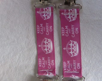 Keep Calm and Carry On Princess Mitten Clips !